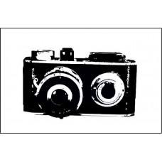 "Штамп  ""Фотокамера""  4см х 2,4см"