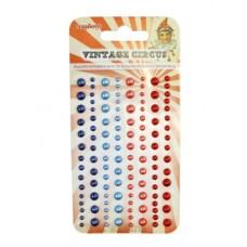 Клеевые полужемчужинки, 120 шт, 4 цвета Старый Цирк 2