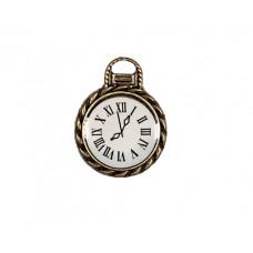 Металлическая подвеска Часы с циферблатом  маленькие 1,7*2,9мм