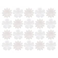 Набор цветков из шелковичной бумаги, 2 вида 20 штук, Белые
