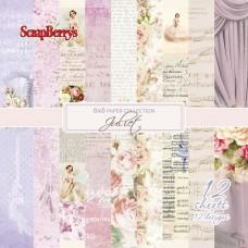 Набор бумаги для скрапбукинга 15х15 см 190 гр/м, Джульетта, 12 листов