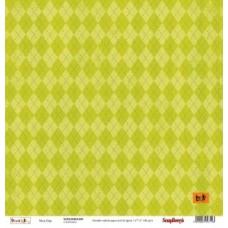 Бумага для скрапбукинга 30,5х30,5 см 180 гр/м двусторон Басик Чудесный день