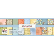 Набор бумаги для скрапбукинга 30,5х30,5 см  Мальчик и Девочка, 9 листов