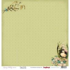 Бумага для скрапбукинга 30,5х30,5 см 190 гр/м, двусторон Весенний праздник. Верба