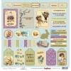 Бумага для скрапбукинга 30,5х30,5 см 190 гр/м, односторон Весенний праздник Карточки
