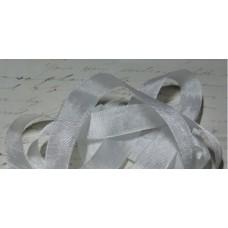 Шебби-лента,  винтажная , белая. Длина 1м
