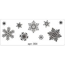 Фон снежинки. 6,5 см х 2,3 см