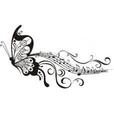 Бабочка с нотками   8,0 см х 3,5 см