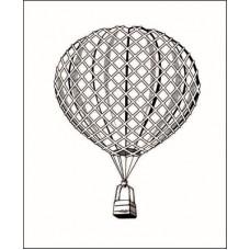 Воздушный шар 5,0 см х 3,8 см.